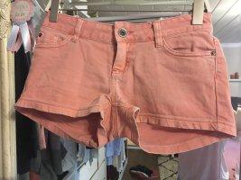 Kurze Jeansshorts von Tom Tailor in orange Größe 26