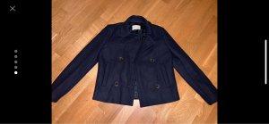 100% Fashion Abrigo corto azul oscuro