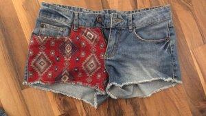 Pimkie Pantaloncino di jeans rosso scuro-blu