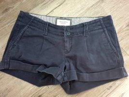 Abercrombie & Fitch Hot pants donkerblauw Katoen