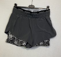 Skiny Pantalone da ginnastica grigio-bianco