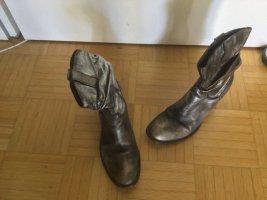 Korte laarzen veelkleurig Leer
