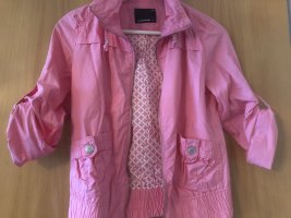 Kurze Stoff-Jacke rosa