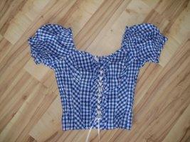 C&A Folkloristische blouse wit-blauw