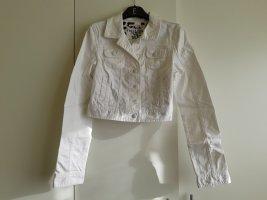 Kurze weiße Jeansjacke von Tally Weijl