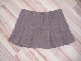 Colors of the world Plaid Skirt light brown