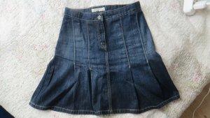 Ann LLewellyn Plaid Skirt dark blue