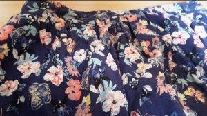 Ann Christine Mini-jupe bleu-rose viscose