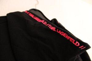 Karl Lagerfeld Cropped Jumper black-neon pink cotton