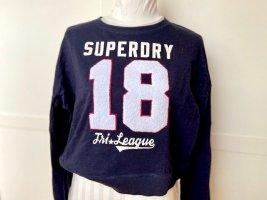 Kurzer Superdry Sweater dunkelblau