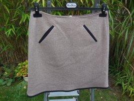 Prego Miniskirt light brown-camel wool