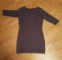 Kurzes Esprit Baumwoll Kleid grau Gr. 38 mit 3/4 Ärmeln
