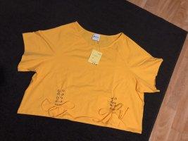 Camisa recortada amarillo