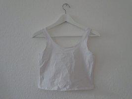 Weekday Top corto bianco Cotone