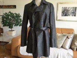 Strenesse Krótki płaszcz antracyt Tkanina z mieszanych włókien