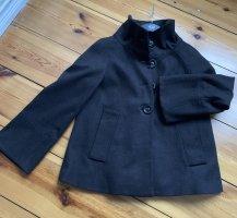 Zara Basic Marynarska kurtka ciemnobrązowy