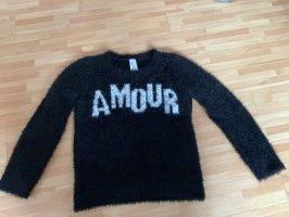 Kuschel Pullover schwarz