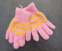 Guanto con dita giallo-rosa