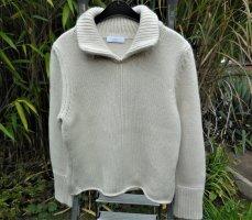 Kuschelig warmer Wollpullover von LONGHIN in Wollweiß
