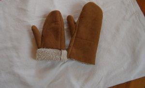 Rękawice bez palców piaskowy brąz
