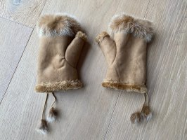 Rękawice bez palców camel