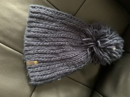 Barts Knitted Hat dark blue mixture fibre