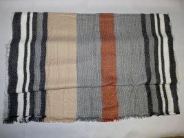 Sciarpa di lana ruggine-grigio Cotone