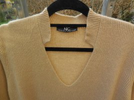 NC nice connections Oversized Sweater camel wool