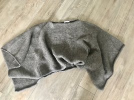 Stefanel Knitted Poncho grey brown wool