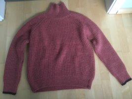 Basic Apparel Jersey de punto grueso color rosa dorado-azul oscuro