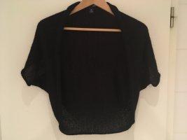H&M Gebreide bolero zwart-zilver Mohair