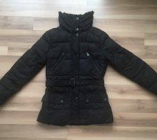 Kuschlig warme Winterjacke von Zero schwarz Gr. 34 schöne Details tailliert