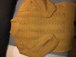 Kuschliger Pullover Senfgelb Größe so