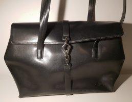 L. Credi schwarze Handtasche Henkel Echtleder