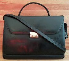 L.credi Briefcase black leather