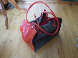 Bolso barrel rojo-marrón grisáceo