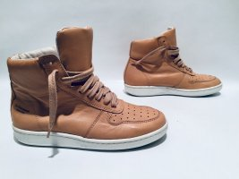 La Garçonne Hightops Sneaker Gr.36 in Nude Beige + Weiß