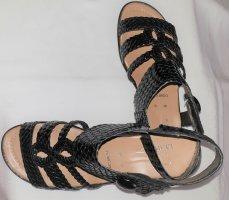 Sandały z rzemykami czarny Skóra