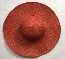 La perla Sombrero de ala ancha rojo
