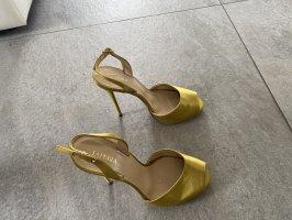 La perla Tacones altos ocre-naranja dorado