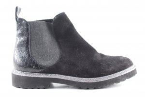 La Strada Schlüpf-Stiefeletten schwarz-silberfarben Animalmuster Casual-Look