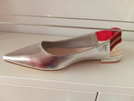 La Strada Slingback Ballerinas silver-colored imitation leather