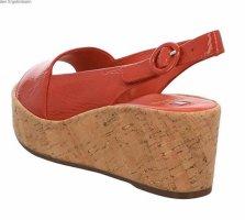Högl Plateauzool sandalen rood Leer