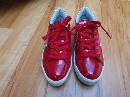 Tamaris Sznurowane buty czerwony-biały Skóra