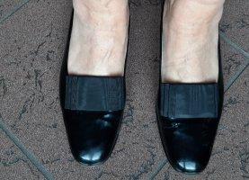 Gabriele Ballerina di pelle verniciata nero
