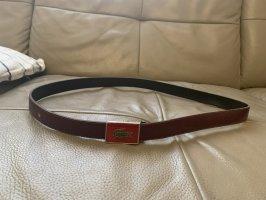 Lacoste Cinturón de cuero marrón
