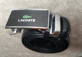 LACOSTE Gürtel Leder schwarz Lack NEU bis 75 - 95 cm lang 3,5 cm breit