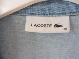 Lacoste Kurzarm-Jeanskleid, Gr. 38, legere Passform mit Druckknöpfen, neuwertig