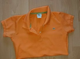 Lacoste, Poloshirt, Damen, Orange, Sonder Edition, Gr 38, Extra Kurz