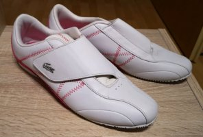Lacoste Zapatillas con velcro blanco-rosa